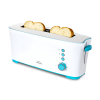 Tostadora de pan con capacidad para dos tostadas. Incluye soporte para panecillos. 1000 W de potencia y 7 posiciones de tostado,